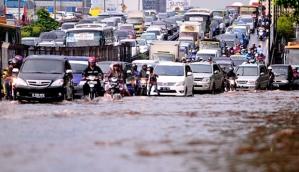 Macet karena Banjir