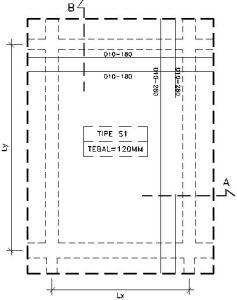 plat lantai 1
